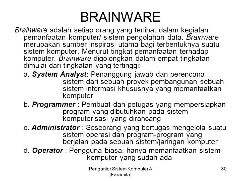 Pengantar Sistem Komputer A [Faramita]